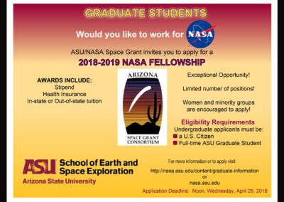 Graduates: Would you like to work for NASA?