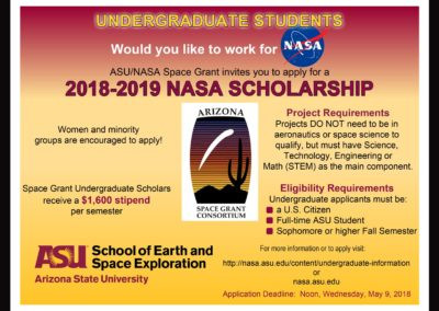 Undergraduates: Would you like to work for NASA?