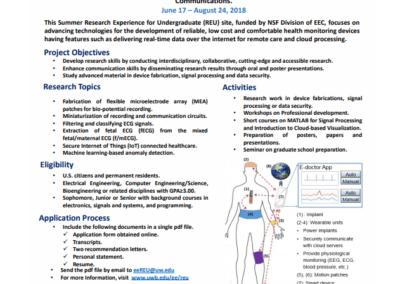 University of Washington Electrical Engineering Program (June 17 – August 24)
