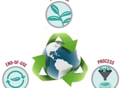 Sustainable polymers for improved chemical circularity